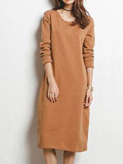 Latest Design Women Korean Style Fashion Loose Pretty Long Sleeve Dress