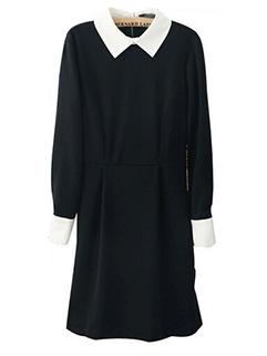 Fashion Wholesale Women Long Sleeve Turndown Neck Mini Party Dresses