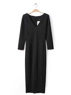 Wholesale Fashion Women Long Sleeve Asymetrical Hem Wrap Dresses