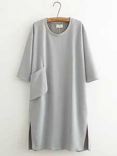 Euro Fashion Women Short Sleeve Applique Loose Hoodies Dresses