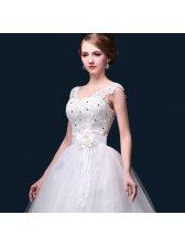 Impression Women Elegant Beatiful Lace Spliced Embroidery Wedding Dress