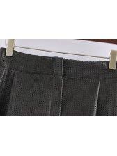 Fashion Korean Design Women Hollow High Waist Skirt