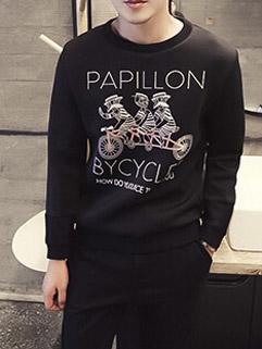 Fresh Style Long Sleeve Customized Print Hoodies For Men