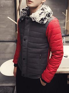 Fashion High Quality Red Long Sleeve Lapel Men's Coat