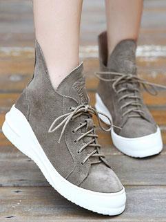 New Design Women Street Style Fashion Bandage Blank Mid Heel Boots