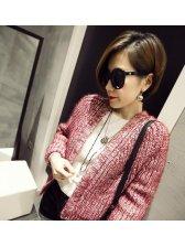 Korean Fashion Hot Sale Mix Color Long Sleeve Vintage Casual Fur Cardigan