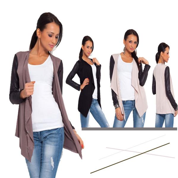 Casual Women Street Style Loose Blank Knitting Cardigan