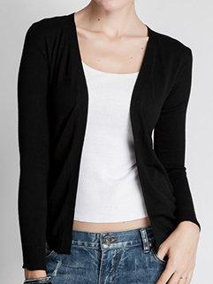Fashion Slim Women Long Sleeve Blank Wear to Work Cardigan Sweater