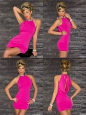 Night Club Hollow Out Fitted Halter Dresses