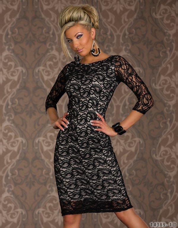 Three Quarter Sleeve Dress Lace Long Sleeve Dress