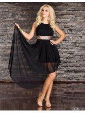 High Quality Women Special Design Solid Color Irregular Hem Tunic Sleeveless Dress