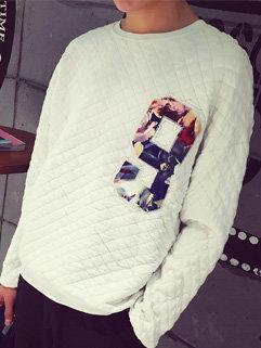 Wholesale Fashion Korean Men Letter Printing Long Sleeve Casual Hoodies