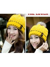 Stylish Solid Color Knitting Button Bomber Hat For Women