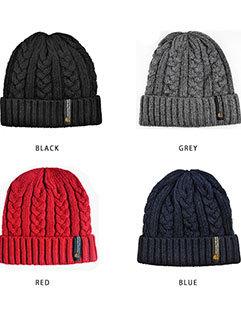 Star Style Knitting Winter Flower Pattern Hat For Men