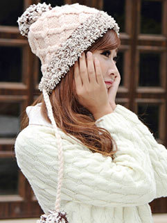 Personality Elastic Best Quality Knitted Winter Bomber Hat For Women