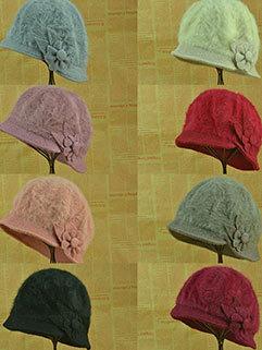 Hot Sweet Winter Rabbit Fur Knitted Hat For Women