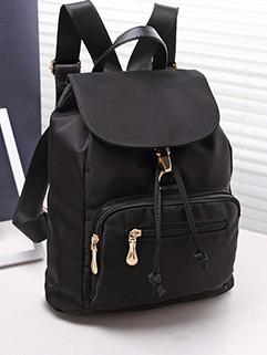 Korean Fashion Women Cover Pockets Simple Design School Backpacks