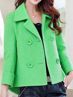 Korean Fashion Fall Women Long Sleeve Loose Cardigan Woolen Coats
