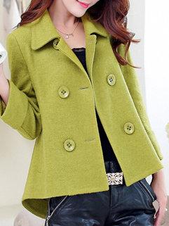 Wholesale Korean Fashion Women Long Sleeve Double-breasted Short Coats