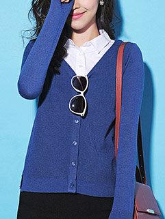 New Arrival Fashion Korean Women V Neck Long Sleeve Cardigan Sweater