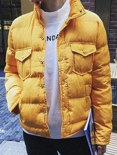 Wholesale Fashion Korean Men Long Sleeve Stand Neck Single-breasted Coats
