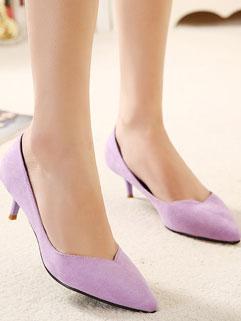 Elegant Lady Women Suede Pointed-toe Shallow OL Style Flat