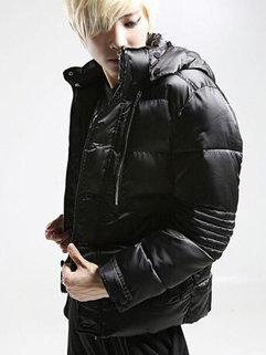 Korean Fashion Long Sleeve Pockets Hooded Neck Winter Coats For Men