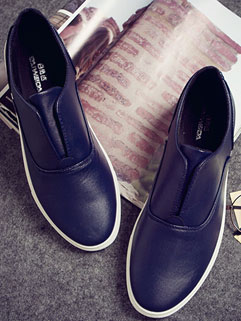 Smart Design Solid Color Round-toe High Quality Fashion Men Shoes