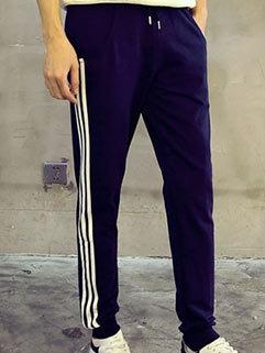 Japanese Style Fashion Men Long Drawstrings Pockets Harem Sport Pants