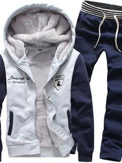 Low Price Men Long Sleeve Thicken Warm Winter Outdoor Hooded Collar Activewear
