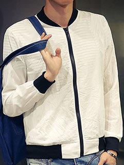 Wholesale Men Long Sleeve Stand Collar Outdoor Slimming Coat
