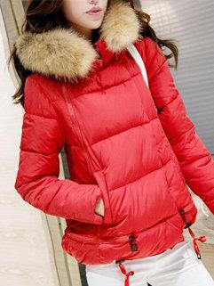 Korean New Design Women Long Sleeve Hooded Neck Zipper Up Bomber Jackets