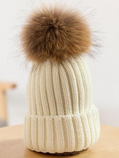 Simple Design Korean Women Ball Décor Knitting Casual Hat