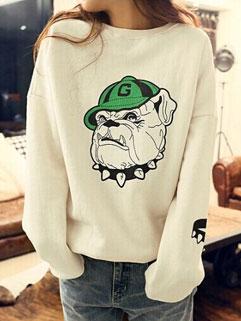 Classic Design Preppy Style High Quality Animal Print Cute Women Hoodies
