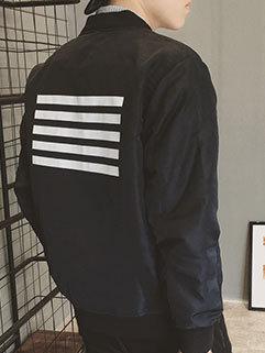 Korean Style Men Long Sleeve Loose Turndown Collar Zipper Up Cool Sport Jacket
