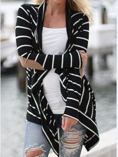 New Arrival Fashion Women Striped Long Sleeve Plus Size Sweater