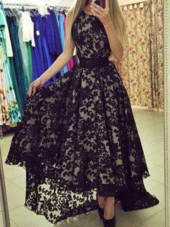Elegant Fashion Women Sleeveless Ball Gown Swallow Tail Evening Dresses