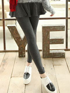 Endearing Solid Color Casual Women Faux Twinset Skinny Leggings