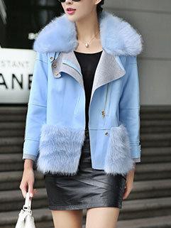Unique Design Fashion Women Patchwork Polo Neck Short Coats