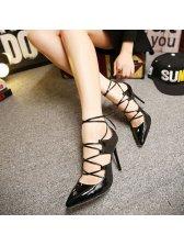 Gorgeous Style Women Pointed-toe Bandage Pumps
