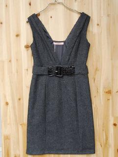 Winter Fashion Natural Waist Woolen Dress