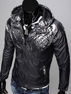 Unique Design Men Long Sleeve Black Sport Coat