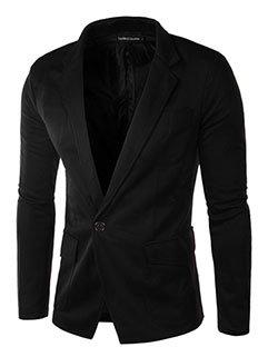 Concise Style Men Long Sleeve Short Coat