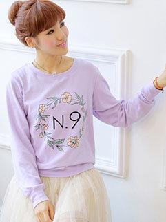 Popular Series Women Floral Pullover Hoodies