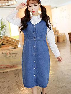 Wholesale Cheap Sleeveless Denim Dresses