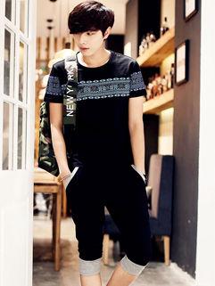 Oversize Sport Style Print Korean Men Suit