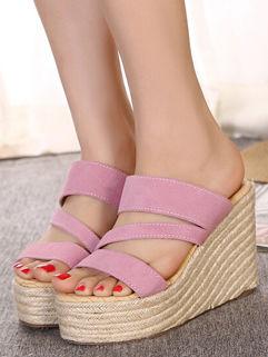 Women Casual Slip On Wedge Slipper
