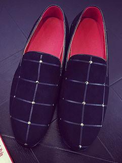 Unique Design Men PU Casual Slip-on Shoes