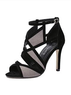 Wholesale European Summer Thin-heel Heel cover Banquet Pumps