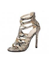 Wholesale Fashion Unique High Heel Zipper Sandal